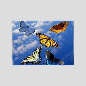 Best Butterfly 5'x7'Area Rug