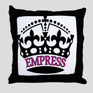 EMPRESS Pink Throw Pillow