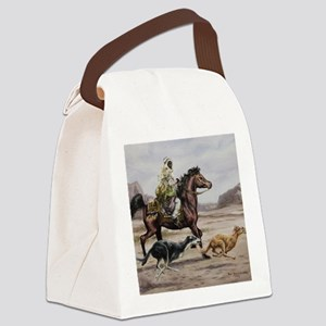 Bedouin Riding with Saluki Hounds Canvas Lunch Bag