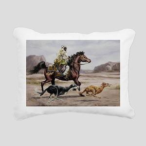 Bedouin Riding with Salu Rectangular Canvas Pillow