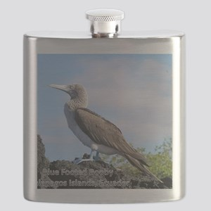 blue footed booby mouse pad Flask