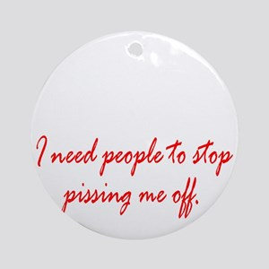 Anger Management Round Ornament