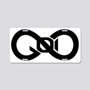 God Infinity Symbol Aluminum License Plate