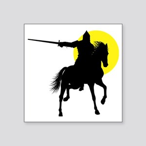 "Eastern Knight Square Sticker 3"" x 3"""