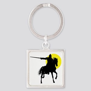 Eastern Knight Square Keychain