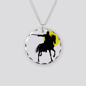 Eastern Knight Necklace Circle Charm