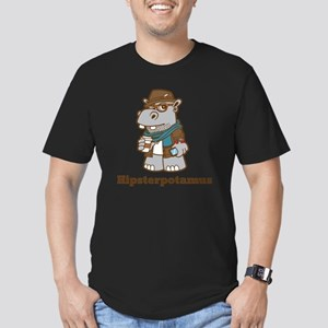 Hipsterpotamus Men's Fitted T-Shirt (dark)