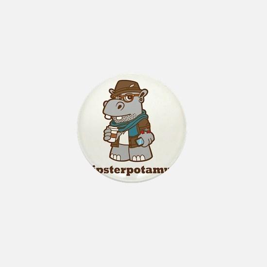 Hipsterpotamus Mini Button