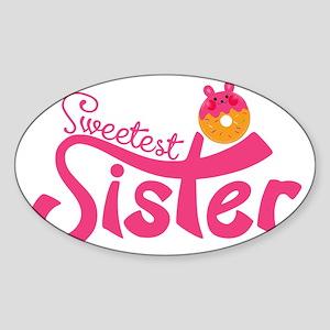 Donut Sister Sticker (Oval)