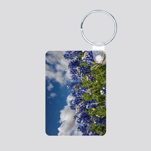 Texas Bluebonnets - 4217v Aluminum Photo Keychain