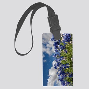 Texas Bluebonnets - 4217v Large Luggage Tag