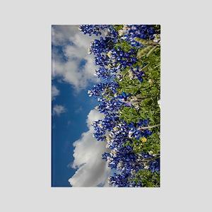 Texas Bluebonnets - 4217v Rectangle Magnet