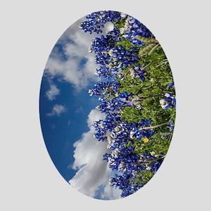 Texas Bluebonnets - 4217v Oval Ornament