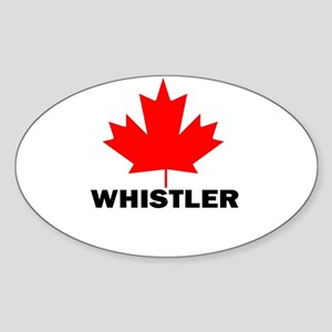 Whistler, British Columbia Oval Sticker