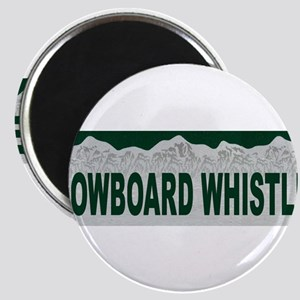 Snowboard Whistler, British C Magnet
