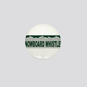 Snowboard Whistler, British C Mini Button