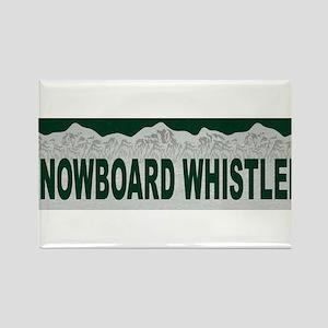 Snowboard Whistler, British C Rectangle Magnet