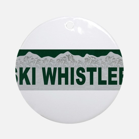 Ski Whistler, British Columbi Ornament (Round)