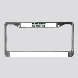 Ski Whistler, British Columbi License Plate Frame
