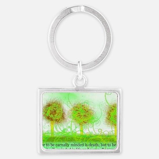 Romans 08 06 Landscape Keychain