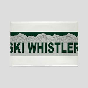 Ski Whistler, British Columbi Rectangle Magnet