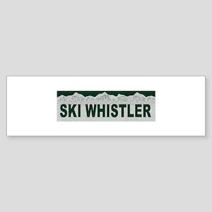 Ski Whistler, British Columbi Bumper Sticker