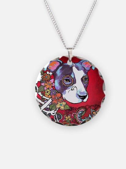 DiaLos Muertos dog Necklace