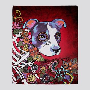 DiaLos Muertos dog Throw Blanket