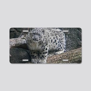 Snow Leopard Aluminum License Plate