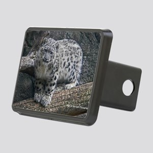 Snow Leopard Rectangular Hitch Cover