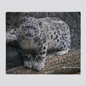 Snow Leopard Throw Blanket