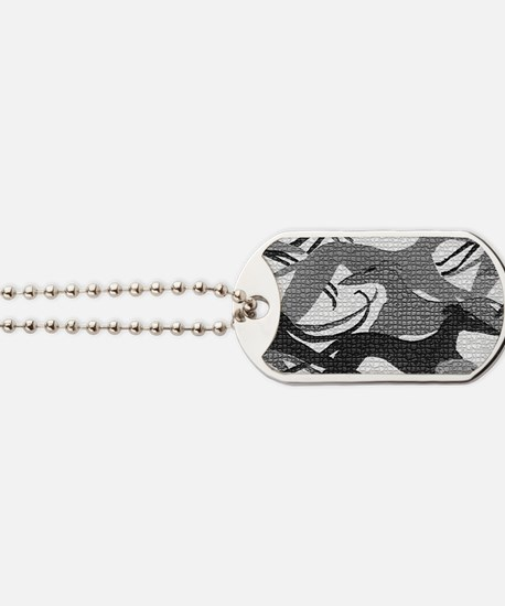 Leaping Hounds Laptop Skin Dog Tags
