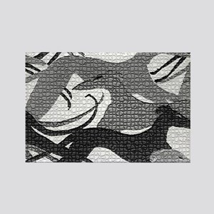 Leaping Hounds Laptop Skin Rectangle Magnet
