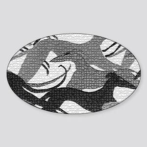 Leaping Hounds Laptop Skin Sticker (Oval)