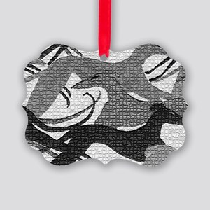 Leaping Hounds Laptop Skin Picture Ornament
