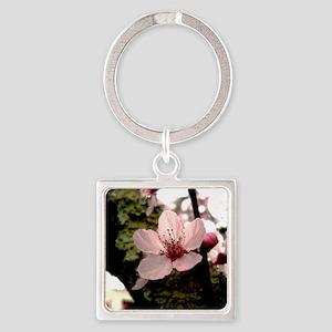 Cherry Blossom, 1 Square Keychain