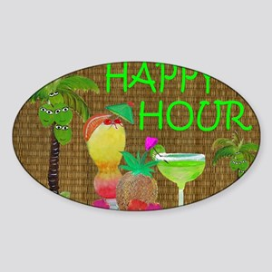 Tropical Drinks Sticker (Oval)