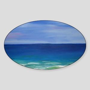 Beautiful Beach Sticker (Oval)