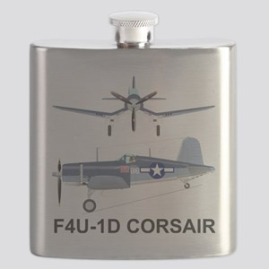 F4U Corsair Pappy Boyington Black Sheep Flask