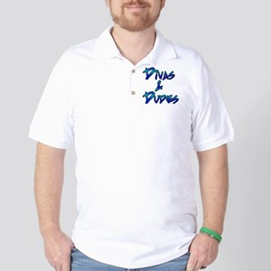 Divas  Dudes Logo (in blue shades) Golf Shirt