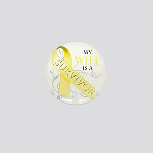 My Wife is a Survivor (yellow) Mini Button