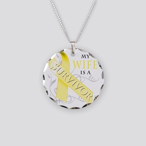 My Wife is a Survivor (yello Necklace Circle Charm