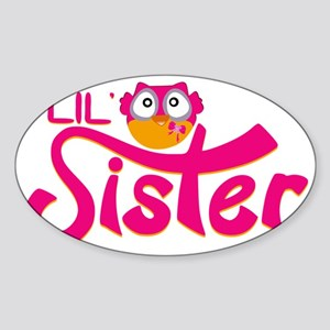 Lil Sister Owl Sticker (Oval)
