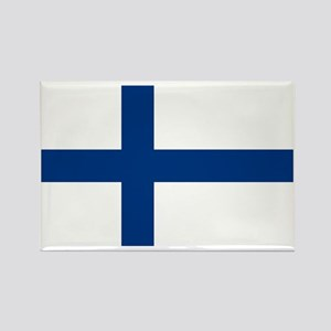 Finland/Suomi Flag Rectangle Magnet