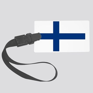 Finland/Suomi Flag Large Luggage Tag
