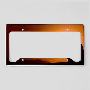 Orange Sky Cat Forsley Design License Plate Holder