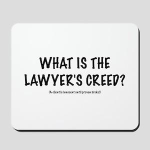 """Lawyers """"Creed"""" Mousepad"""