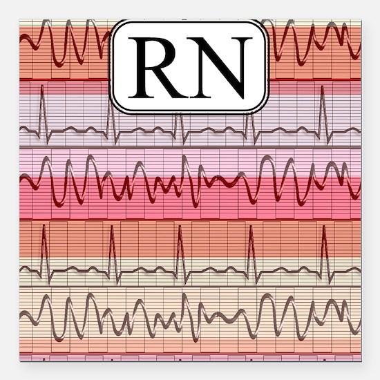 "RN case reds Square Car Magnet 3"" x 3"""