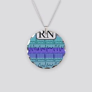 RN case blue Necklace Circle Charm