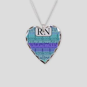 RN case blue Necklace Heart Charm